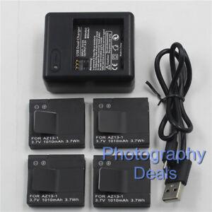 For-Xiaomi-Yi-AZ13-1-AZ131-Battery-Dual-Charger-For-Xiaomi-Yi-Sports-Camera