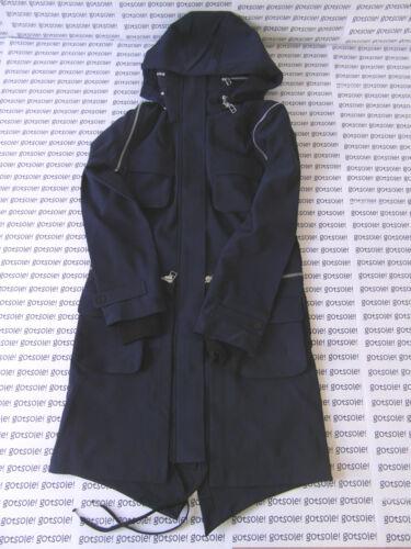 scuro blu Parker 180 W49380 Giacca 'fishtail Blu Coat £ Slvr Parka' Trench Adidas Cw8xIXBSqC