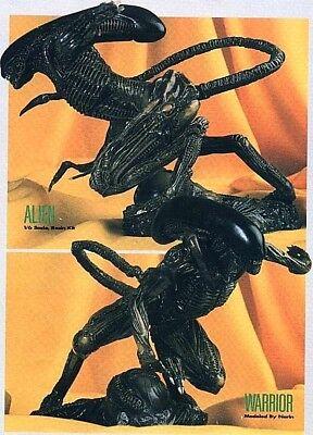"""8""""Attacking Alien Warrior on Base Resin Model Kit 1/6"""