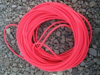 20 Feet Of Bulk 1/4 Bright Red Latex Tubing Eel Lure Fishing Hook Tube Jig