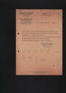 AMBURGO, Lettera 1949, Hermann F. Albert Pipes Smoking Article
