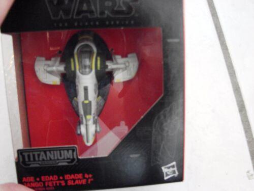 Disney//Hasbro Star Wars The Black Series Titanium #27 Jango Fett/'s Slave I Ship