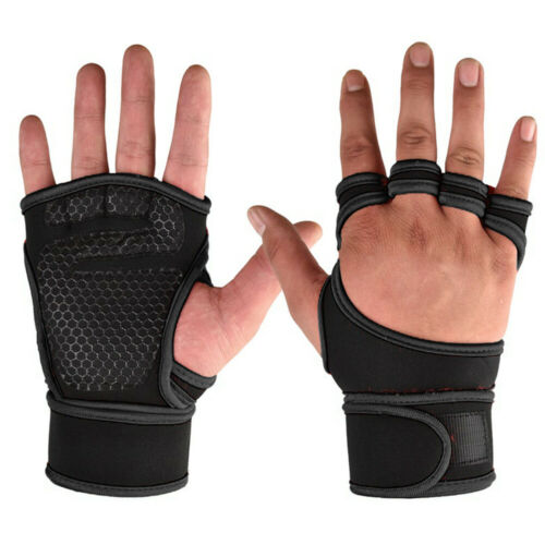 Fitness Gloves Weight Lifting Gym Workout Training Wrist Wrap Strap Mens Womens