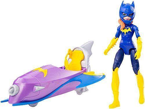 """DC Super Hero filles-Les chauves-souris ACTION FIGURE 6/"""" poupée avec batjet véhicule-DVG74"""