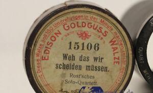 Edison Goldguss Walze Weh Das Wir Scheiden Müssen Nr Mechanische Musik Vorkriegsaufnahmen 15106