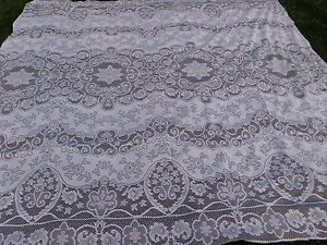 Tri-Chem Liquid Embroidery 101 x 110 Lace Bedspread Ready To Paint # 7842