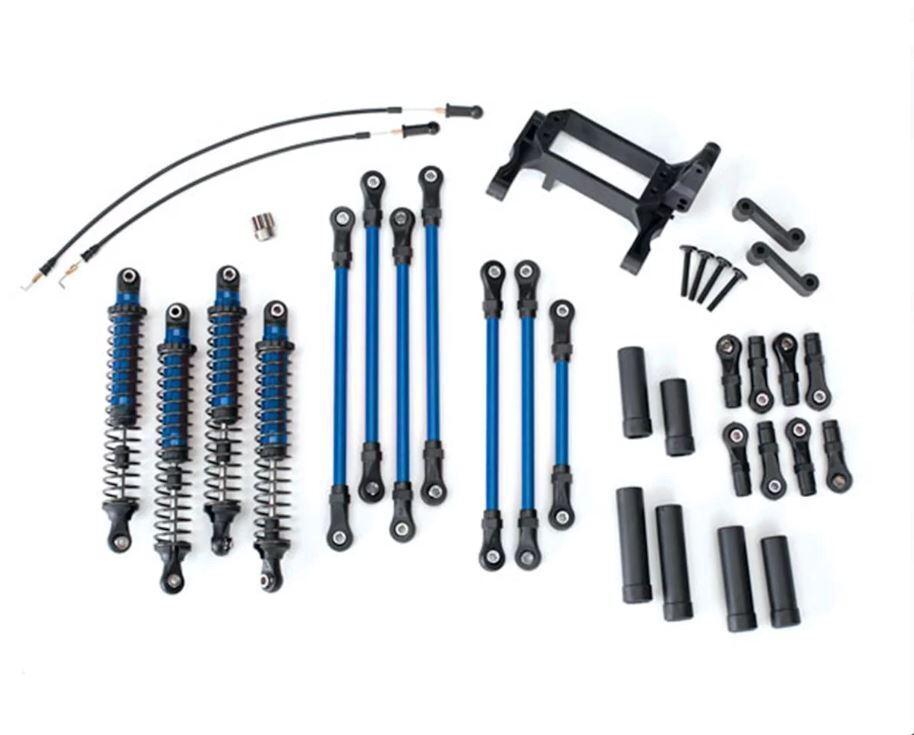 Traxxas 8140X Long Arm Lift Kit, TRX-4 (bluee) complete