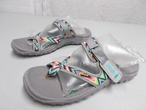 Details about SKECHERS 48228 Women's Reggae Zig Swag Gray Sport Sandals Size 10