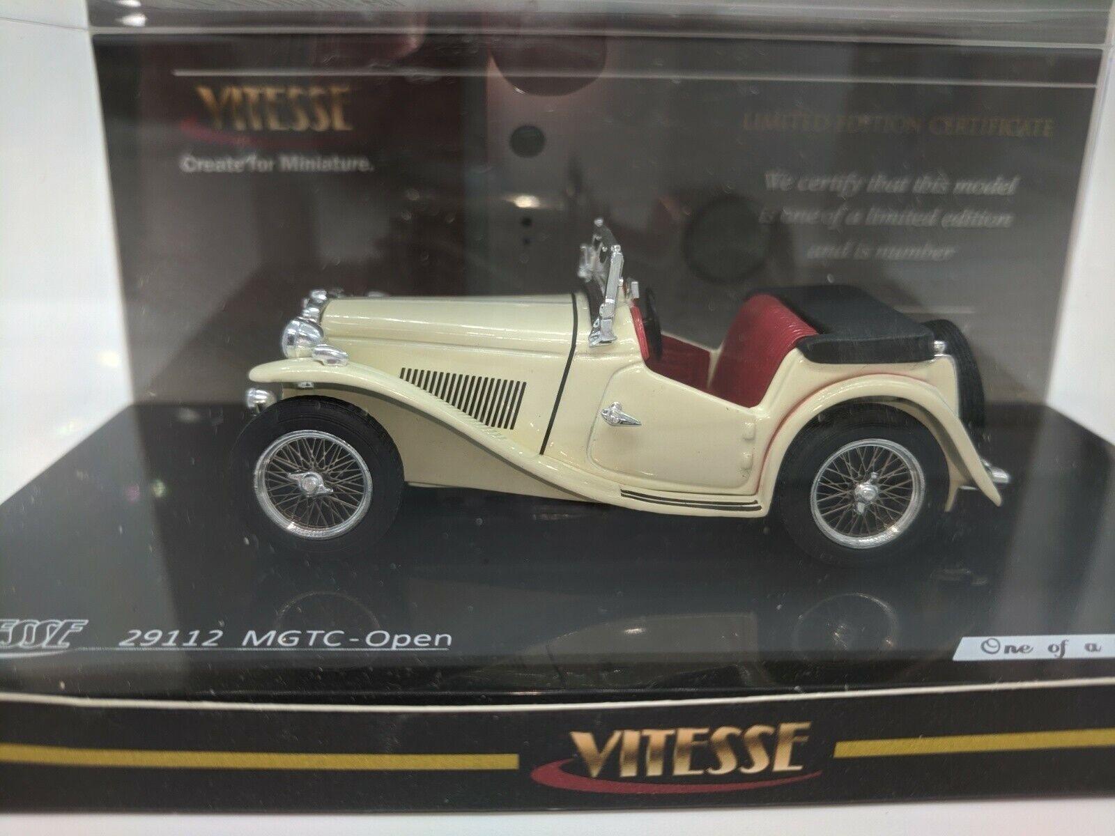ivory white 1//43 open wonderful modelcar MG TC Roadster 1945 lim.ed.