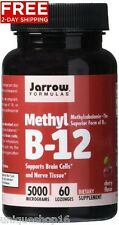 Jarrow Formulas Methylcobalamin (methyl B12) Supports Brain Cells 5000 Mcg 60 Lozenges 885721251777