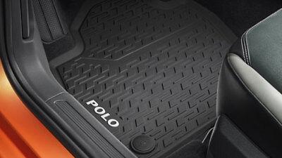 hinten Gummifußmatten schwarz 2G1061500 Original VW Polo 6 AW Gummimatten vorn