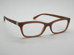 f2ed25c5978a NEW Authentic BURBERRY B 2220 3575 Matte Brown 52mm Rx Eyeglasses