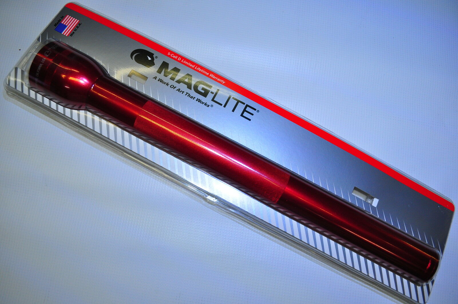 Maglite S5D036 Maglite  Krypton Flashlight 5D-Cell RED 03 96 Model Brand New     discounts and more