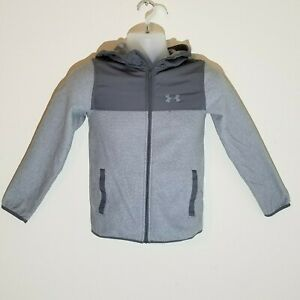 Under-Armour-Cold-Gear-Youth-Jacket-Medium-Gray-with-Hoodie