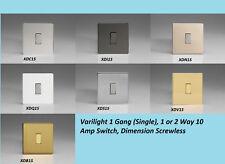 G/&H CBC2B Standard Plate Bright Copper 2 Gang 1 or 2 Way Rocker Light Switch