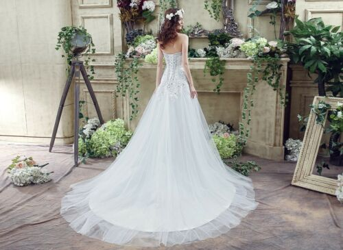 2018 Ball Gown Wedding Dresses Tulle Sweetheart Lace Crystal Cheap Bridal Gown