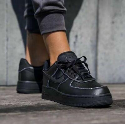 WMNS Nike Air Force 1 Lo Black Glitter Size UK 5.5 US 8 EUR