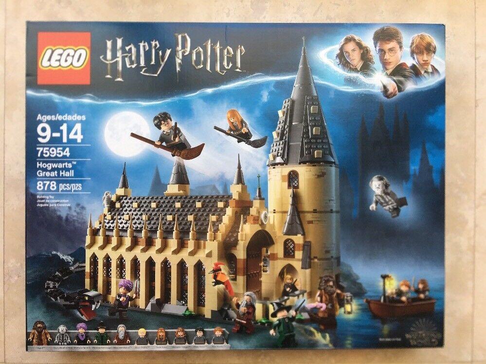 NEW 2018 LEGO Harry Potter 75954 Wizarding World Hogwarts Great Hall 10 Minifigs