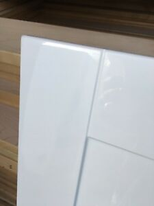 Details about FP&P Gloss White Shaker Kitchen Cabinet Cupboard Doors fit  Howdens kitchen unit