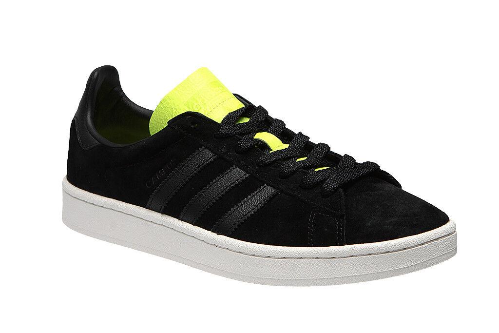 adidas Originals Campus Suede Core BLACK Solar Yellow Soccer Shoes BB0082 9 new