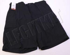 NEW-Tru-Spec-Tactical-BDU-Shorts-LARGE-L-BLACK-100-Cotton-Ripstop-4215005