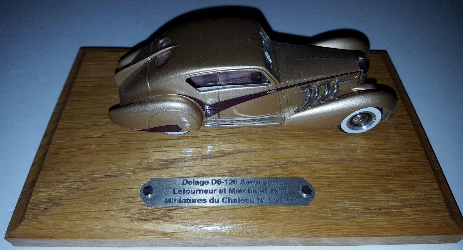 Heco  MC50 1 43 Delage D8-120 AEROSPORT Letourneur et marchand 1937 oro   300
