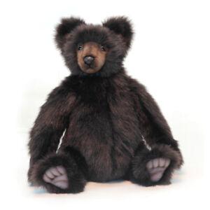 HANSA-GRIZZLY-BROWN-BEAR-SITTING-REALISTIC-CUTE-SOFT-ANIMAL-PLUSH-TOY-46cm-NEW