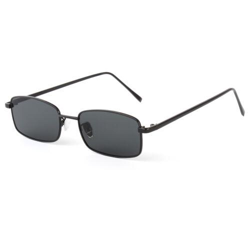 New Thin Rectangle Sunglasses Women Metal Small Square Men Sun Glasses UV400