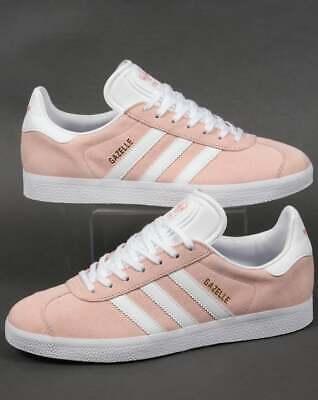 adidas Gazelle Trainers in Pink \u0026 White
