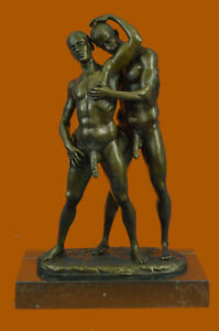 COLLECTIBLE-BRONZE-SCULPTURE-STATUE-Gay-Art-Collector-Edition-Nude-Male-Men-Art