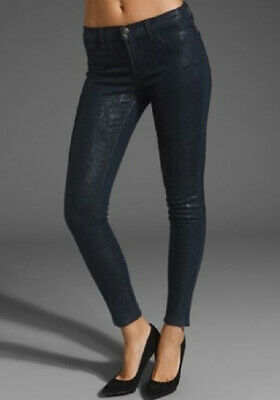 801o216 Da Donna Marca J Jeans Super Skinny Blu Indaco Boa Taglia 26-mostra Il Titolo Originale