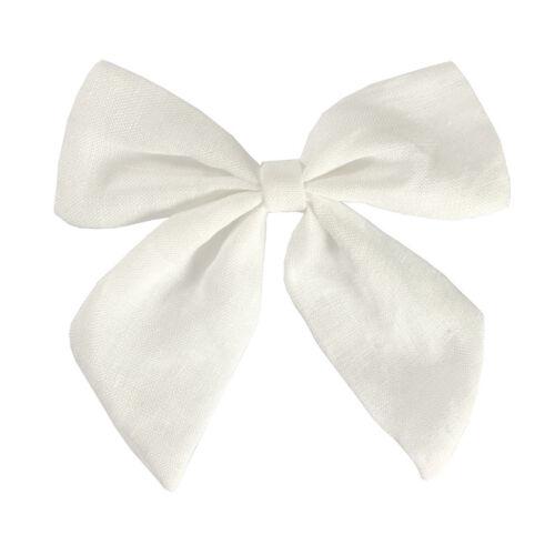 Fashion Chic Flax Cotton Bow-knot Hair Pin Clip Accessories Women Girls Headwear