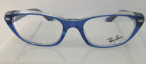 45409f2f1431 RAYBAN RB 5242 BLUE 5111 PLASTIC CAT EYE EYEGLASSES FRAME 51-18-140 ...