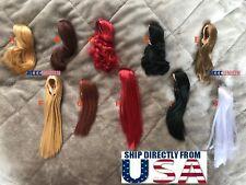 "1/6 Scale Woman Hair Wig 2.5 Multi Color For 12"" Female Head Sculpt Doll U.S.A."