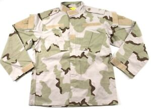 US Military Tri-Color Desert Camo DCU COMBAT SHIRT Jacket BDU ~ Small Regular