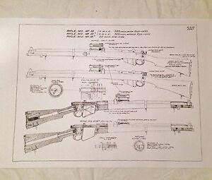 WW1 WW2 British SMLE Lee Enfield No1 Mkiii Rifle Battlefield Poster Schematics