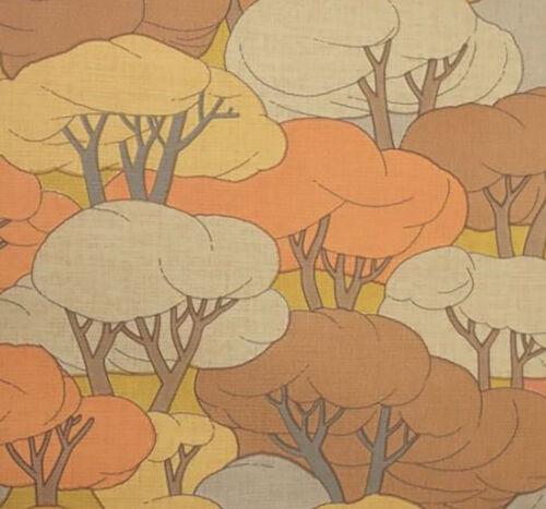 Dancing in the Forest Original 1970s Vintage Wallpaper Groovy Retro sixties