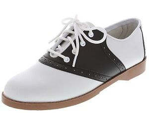 WOMENS CLASSIC 50s STYLE BLACK AND WHITE SADDLE SHOES~ALL SIZES 5-12 ... 280ba3637e