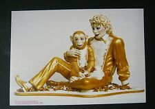 Jeff Koons  Finland Retrosect Postcard show 2005 RARE Micheal Jackson & Bubbles