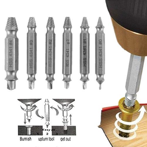 6 Stk Linksdreher Schrauben Ausdreher Linksausdreher Werkzeug Schraubenlöser DE