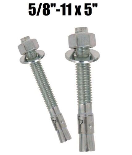"Qty 25 5//8-11 x 5/"" Concrete Wedge Anchor Zinc Plated"