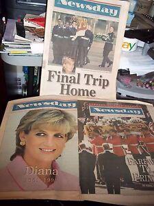 Details about 2 NEWSPAPERS PRINCESS DIANA LI NEW YORK NEWSDAY SEPT 1  SEPTEMBER 7 1997 FAREWELL