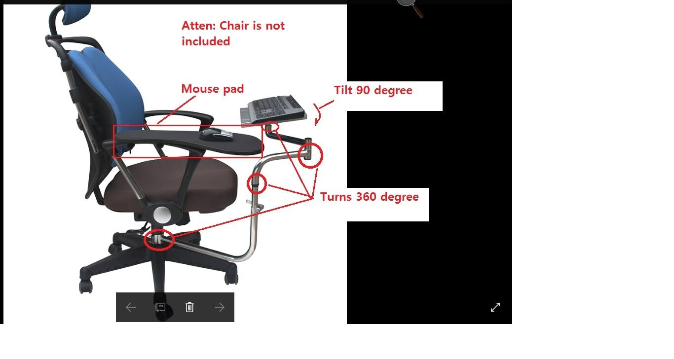 Ergonomic Laptop Keyboard Mouse Stand Mount Holder Attach