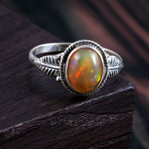 Details about  /100/%Natural Ethiopian Amazing Opal Gemstone Vintage Modernist Statement Ring#325