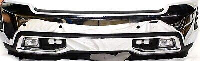 2019 2020 Chevy Silverado Ltz 1500 Chrome Front Bumper W Sensor W Fog Lights Ebay