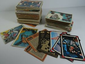 Vintage-BATMAN-Trading-Collector-Card-1966-Lot-Approx-150