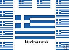 Assortiment lot de10 autocollants Vinyle stickers drapeau Grèce-Greece-Grecia