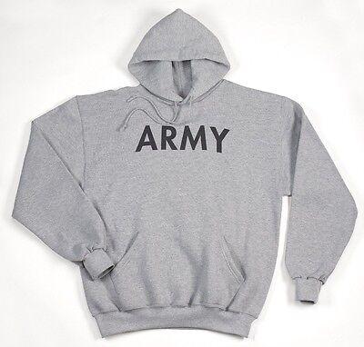 Diplomatisch Army Hoodie Kapuzen Sport Us Hoodie Sweatshirt Grau Grey M / Medium