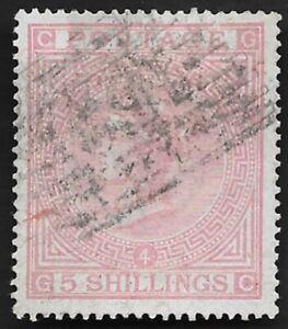 1882-QV-SG134-5s-Rose-GC-Very-Fine-Used-CV-4-200