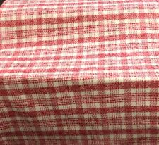 """100% Wool Red and White Plaid Winter Weight 60"""" wide Clothing Jackets Skirts"""
